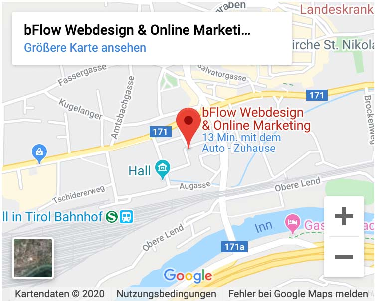 bFlow Webdesign & Onlinemarketing Standort Hall in Tirol